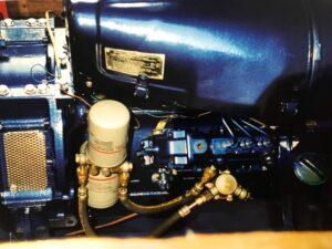 Refurbished Painted Narrow Boat Engine